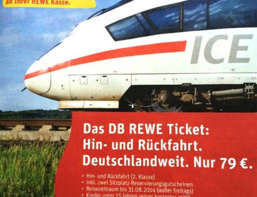DB REWE ICE-Tickets für 79 Euro – Super-Schnäppchen bis 28.06.