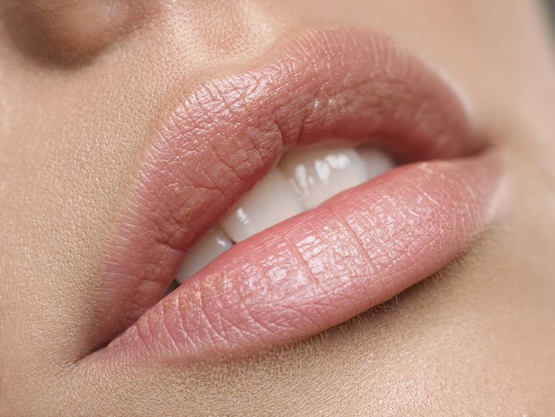 schöne gepflegte Lippen
