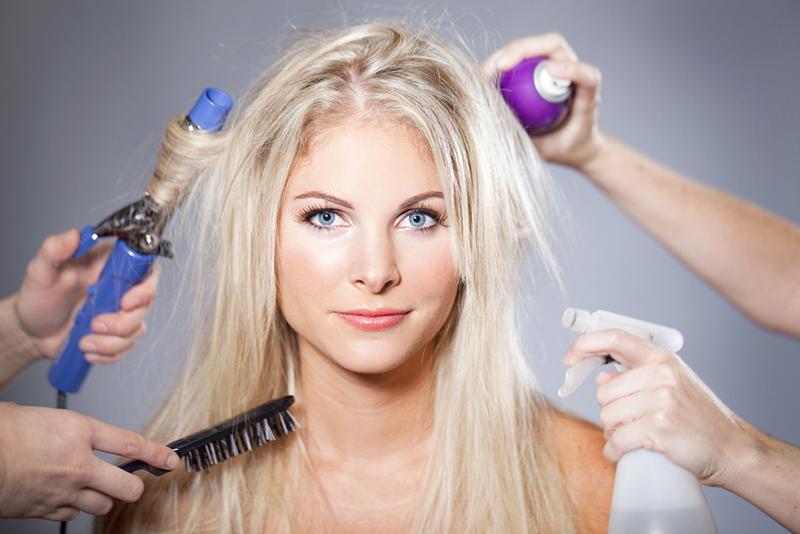 woman hair care